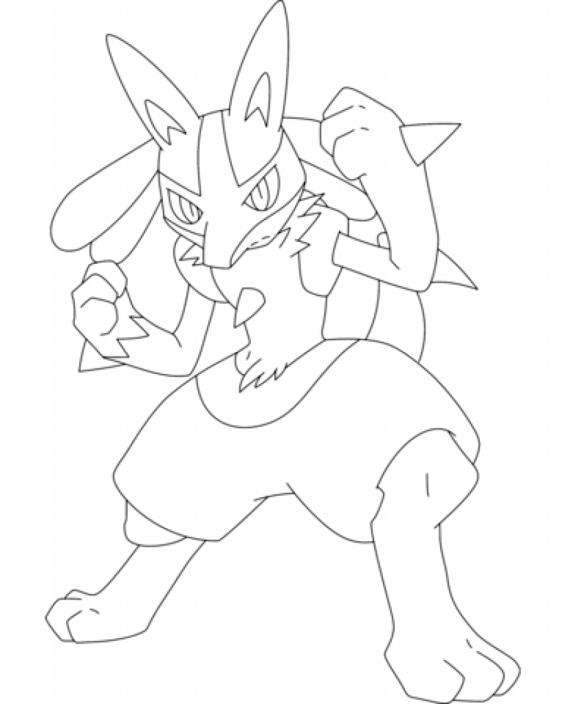 Pokemon Lucario Drawing At Getdrawings Free Download