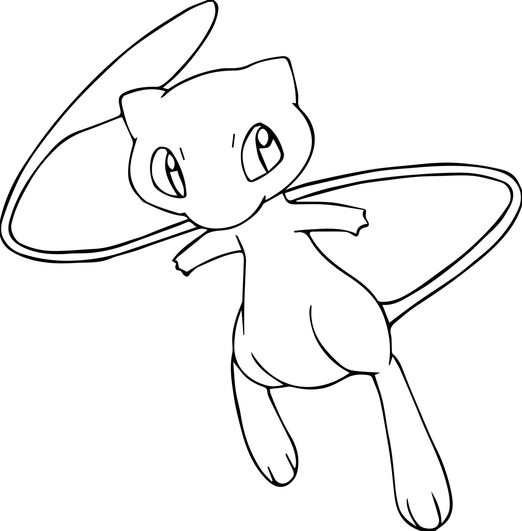 Pokemon Mew Drawing at GetDrawings | Free download