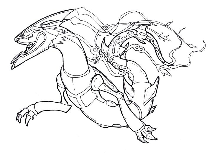 Pokemon rayquaza drawing at free for - Coloriage pokemon rayquaza ...