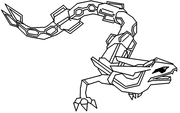 600x378 Pokemon Coloring Pages Rayquaza Kids