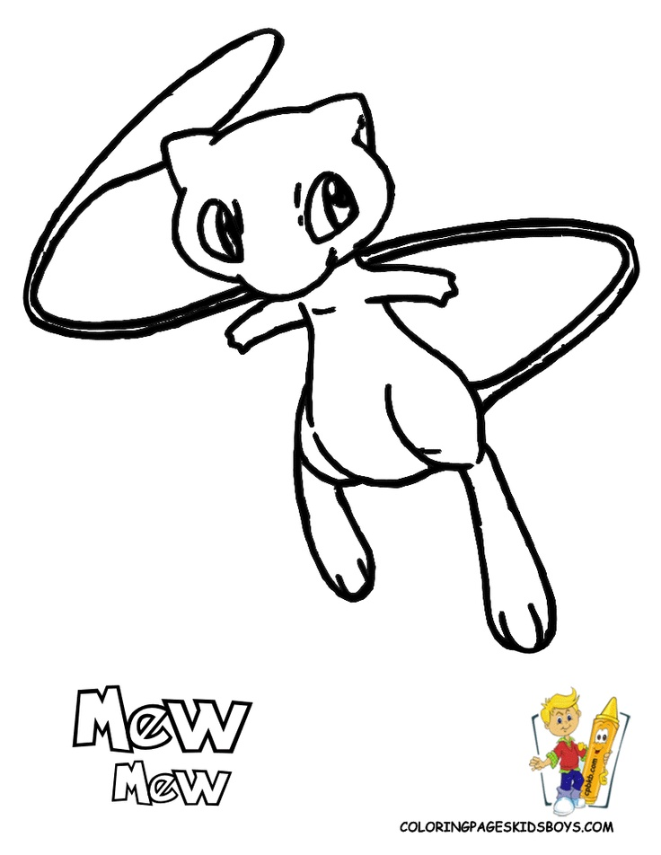 736x952 Pokemon Mew Coloring Pages Weekly Preschool In Tiny Pict