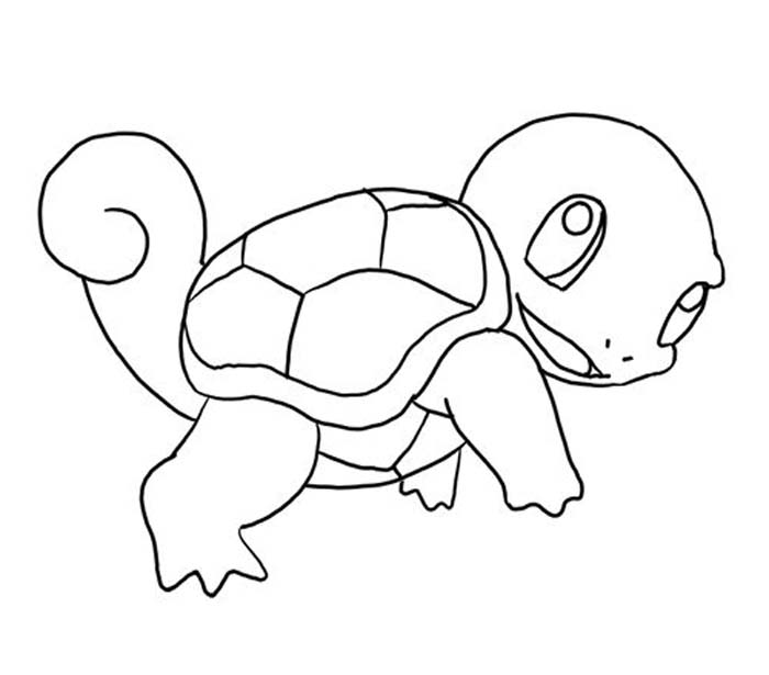 Printable pokemon coloring pages squirtle ~ Pokemon Squirtle Drawing at GetDrawings.com   Free for ...