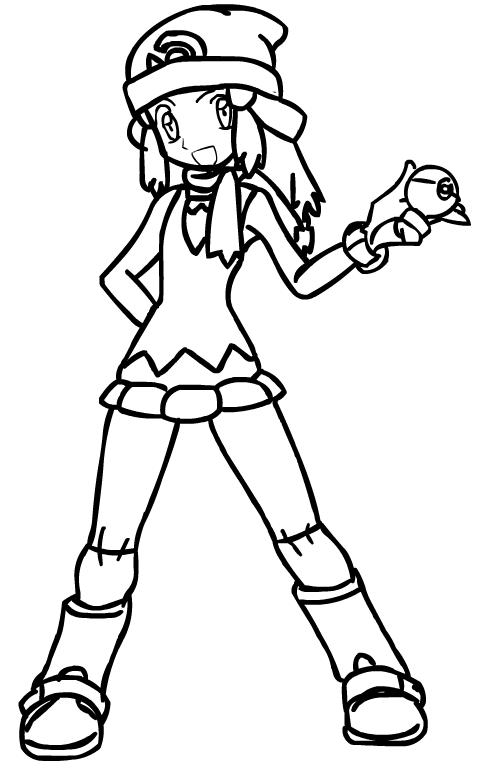 Pokemon Trainer Drawing
