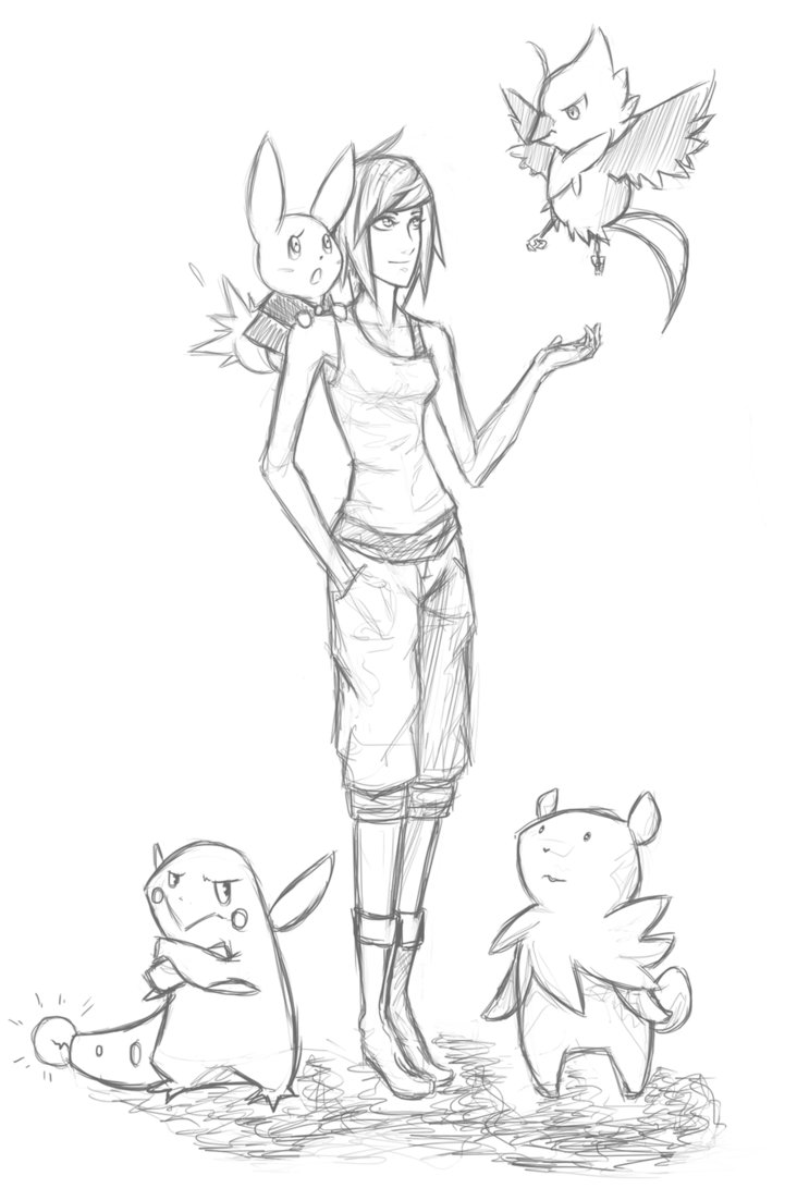 732x1091 Pokemon Trainer Drawing Tempaltes Pokemon Trainer Card Template