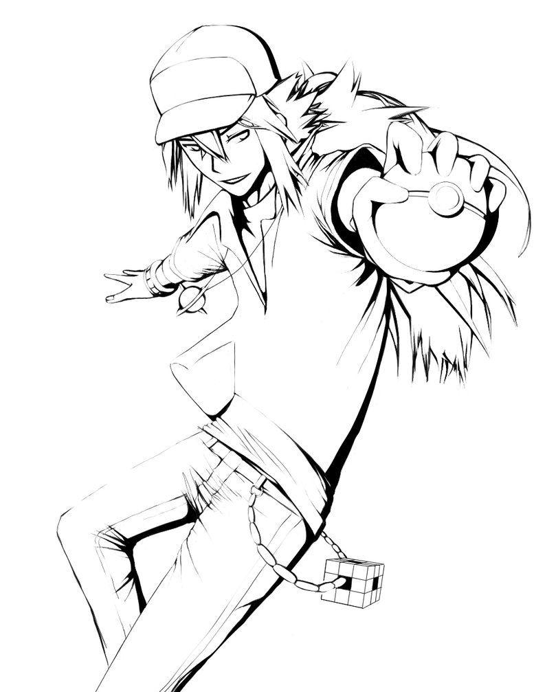 793x1007 Pokemon Trainer N Wip Lineart By Chatoyant Epoch