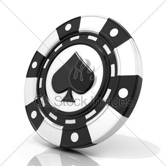 325x325 Set Of Standing Gambling Poker Chips, With Spade, Heart D Gl