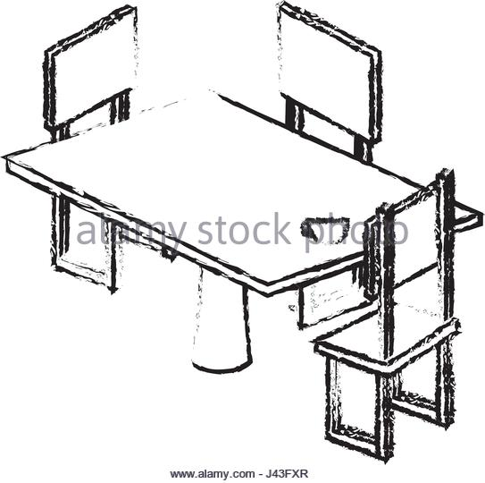 543x540 Table Chair Isometric Stock Photos Amp Table Chair Isometric Stock