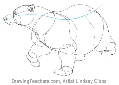 500x357 Cartoon Polar Bear