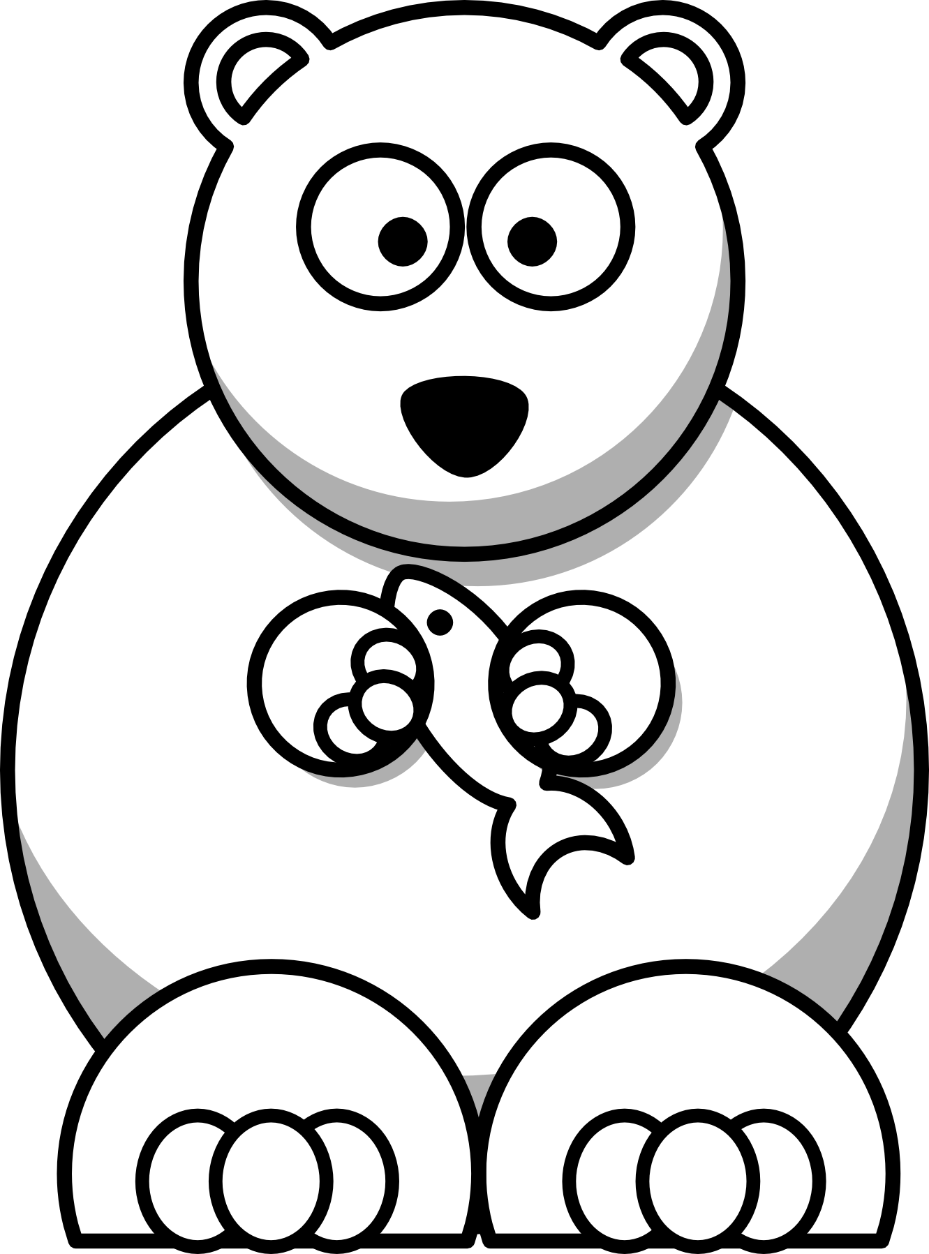 1331x1797 Cartoon Polar Bear Coloring Pages Cincess Polar