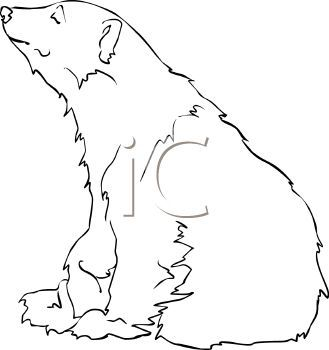 329x350 Drawn Polar Bear Clipart