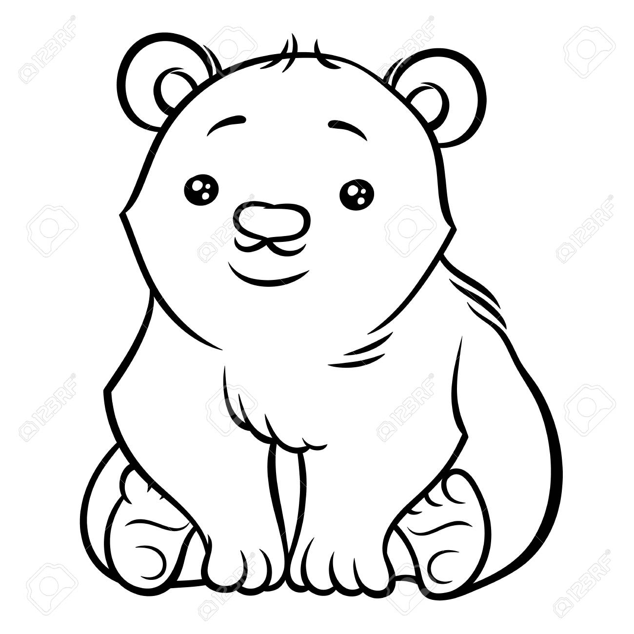 1300x1300 Illustration Of Cute Cartoon Baby Polar Bear Royalty Free Cliparts