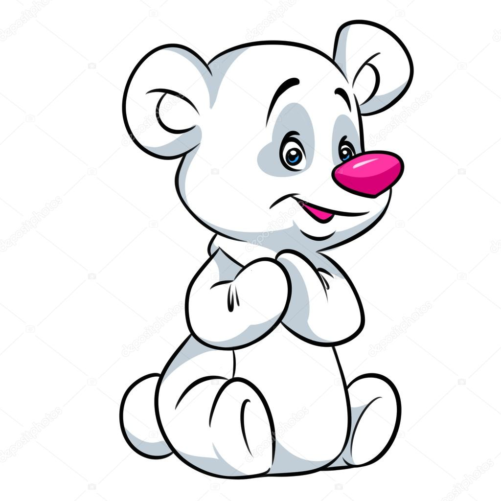 1024x1024 Little Polar Bear Cartoon Illustration Stock Photo Efengai