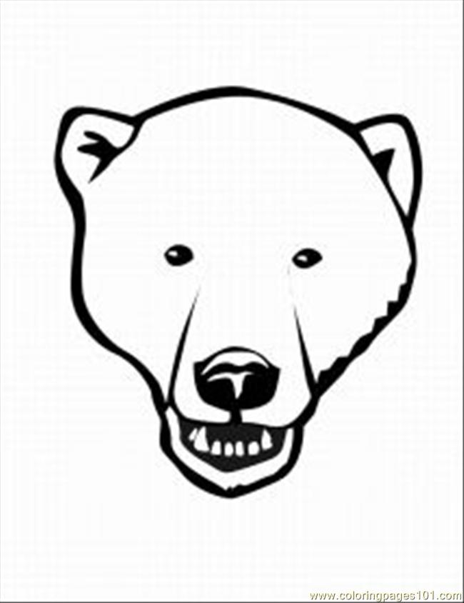 650x844 Polar Bear 5 Med Coloring Page