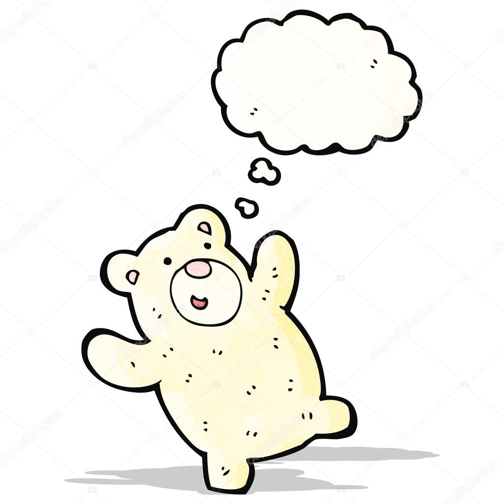 1024x1024 Funny Little Polar Bear Cartoon Stock Vector Lineartestpilot