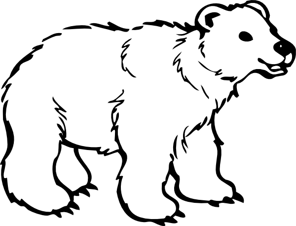 600x458 Bigger Polar Bear Clip Art