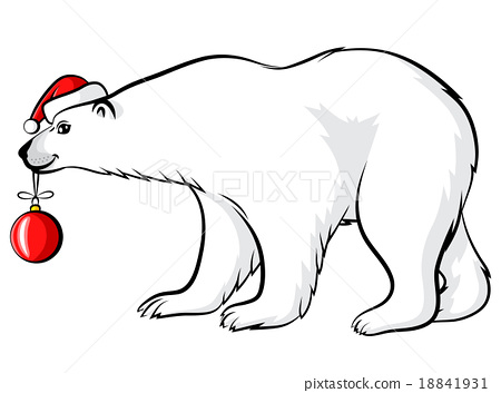 450x353 Cartoon Christmas Polar Bear