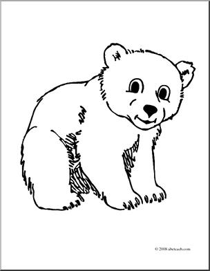 304x392 Polar Bear Cub Clipart