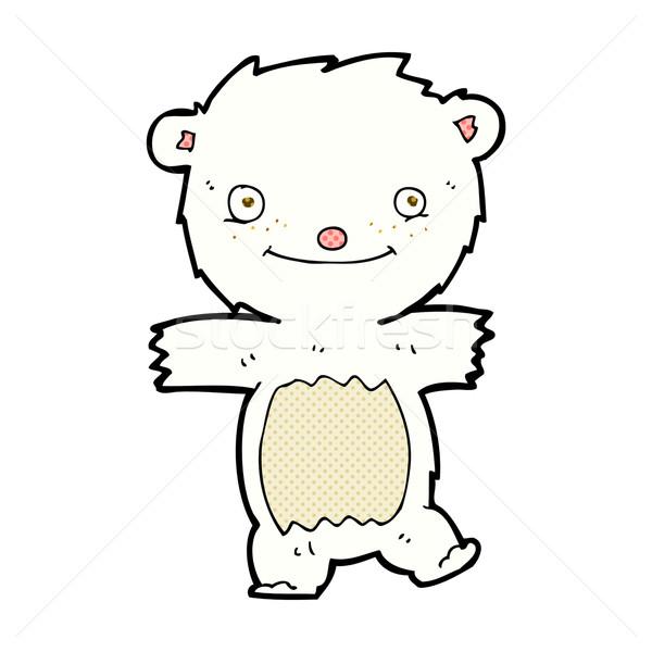 600x600 Comic Cartoon Polar Bear Cub Vector Illustration Lineartestpilot