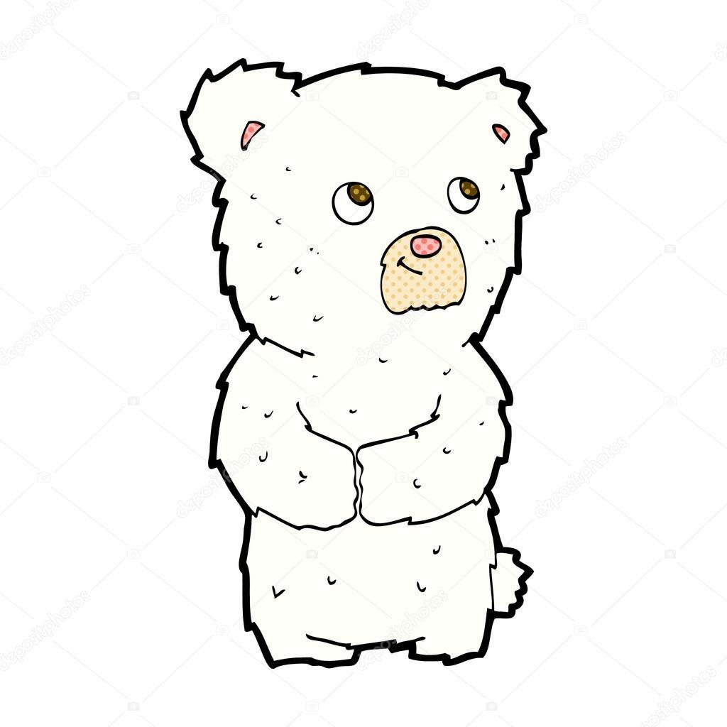 1024x1024 Comic Cartoon Polar Bear Cub Stock Vector Lineartestpilot