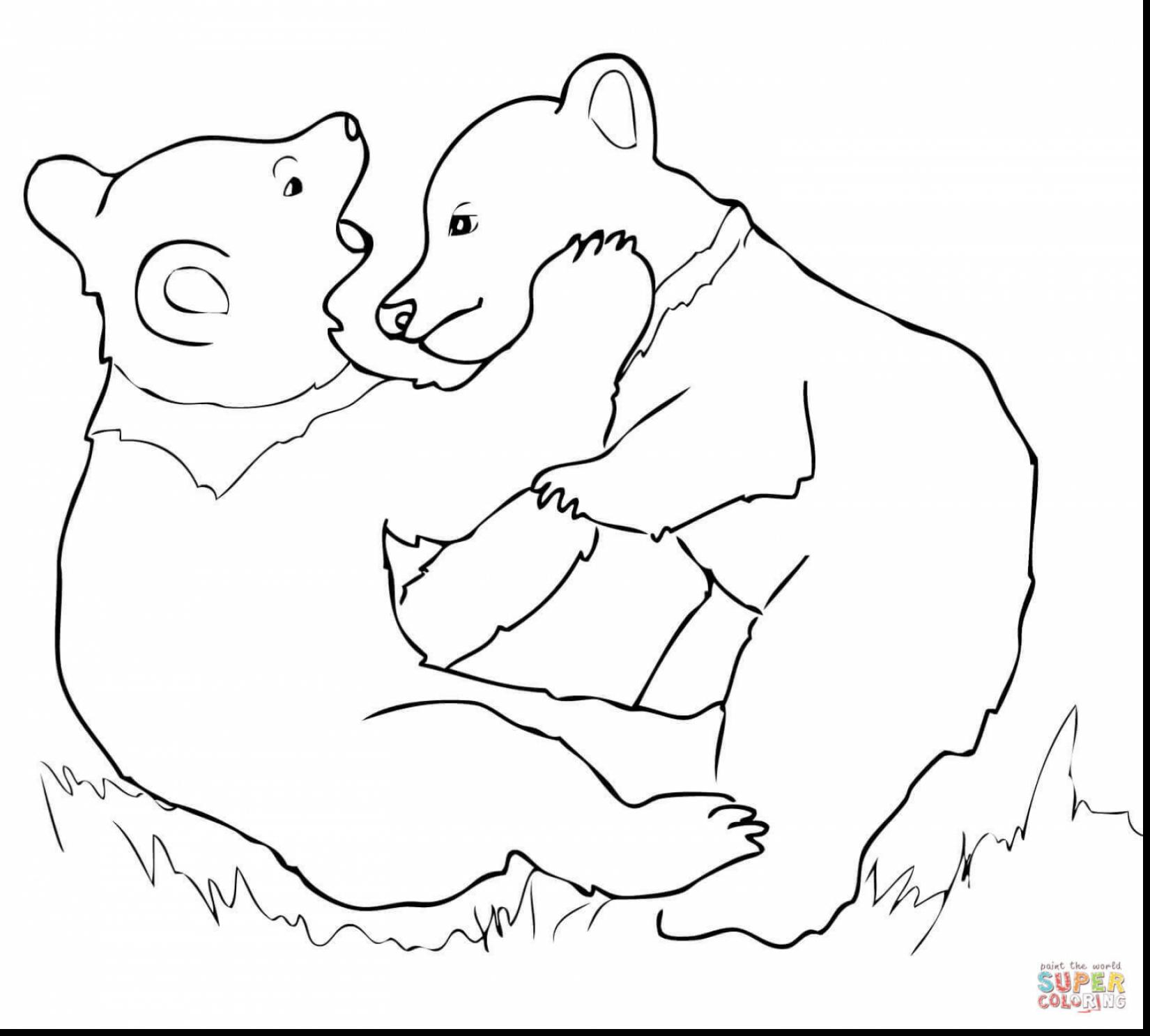 1650x1487 Terrific Polar Bear Coloring Pages With Bear Coloring Page