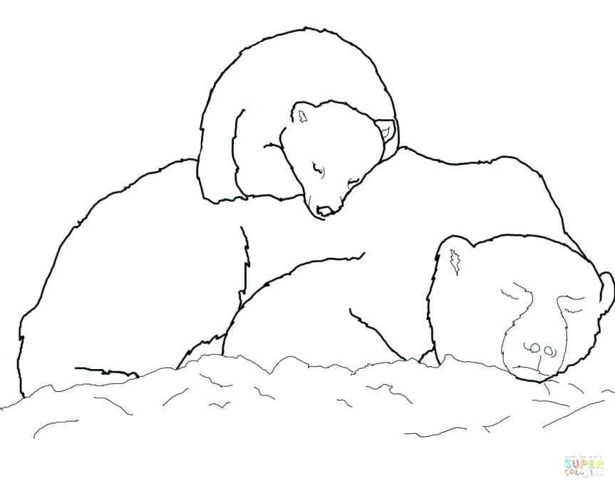 863x685 Cute Baby Polar Bear Coloring Pages Page Best Coloring Disney Book