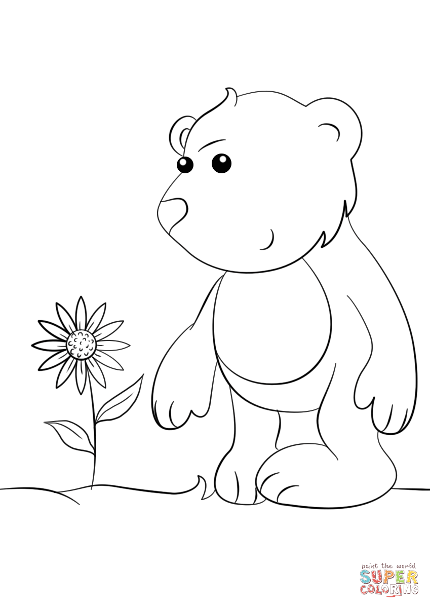 849x1200 Cute Cartoon Bear Coloring Page Free Printable Coloring Pages