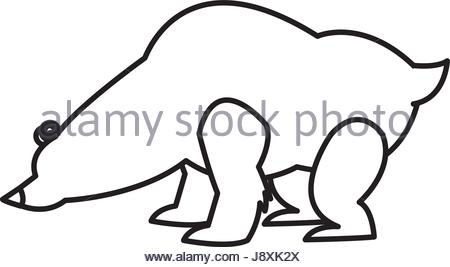 450x267 Cartoon Cute Polar Bear Wild Artic Stock Vector Art Amp Illustration