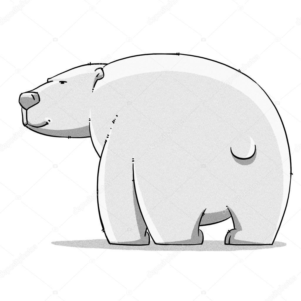 1024x1024 Funny Cartoon Cute Bear Illustration Stock Photo Turaevgeniy