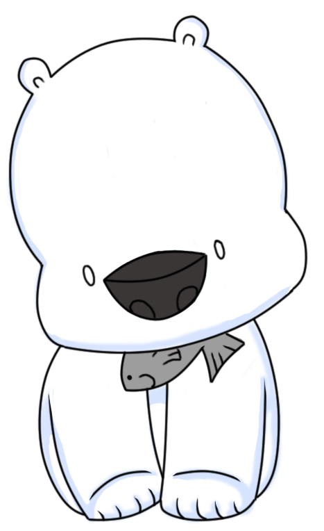 467x764 Chibi Polar Bear Cute Things Polar Bear, Chibi