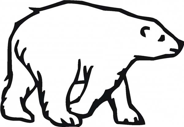 600x415 Coloring Pages Draw A Polar Bear Cute Polar Bear Coloring Page