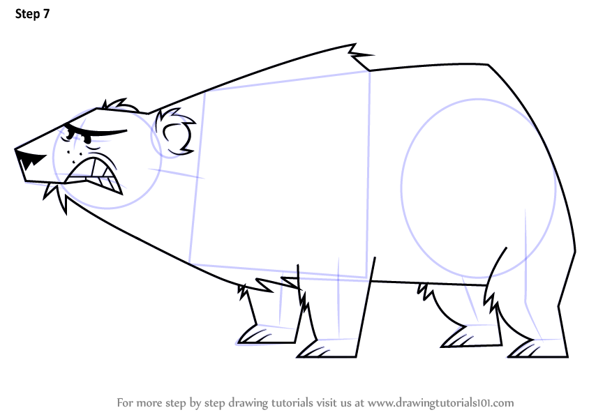 844x598 Learn How To Draw Polar Bear From Total Drama (Total Drama) Step