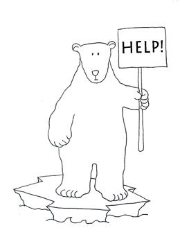 260x342 Polar Bear Clipart Line Drawing