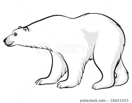 450x350 Cartoon Polar Bear