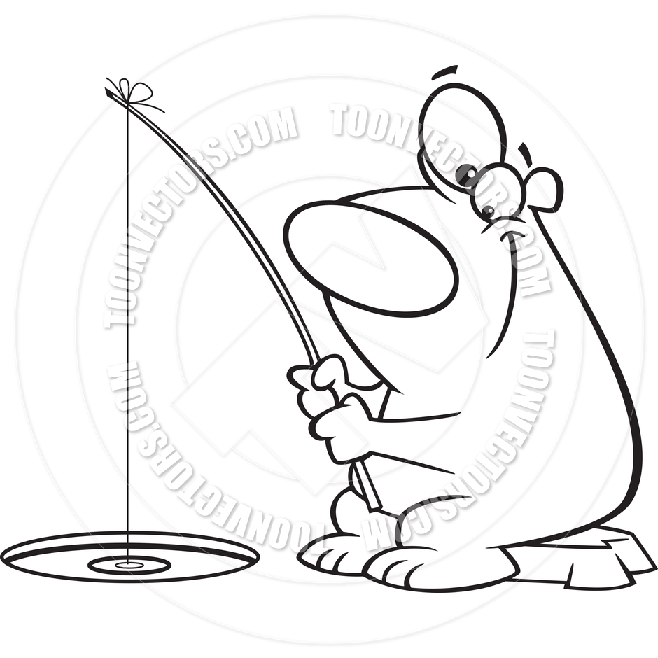 940x940 Drawn Polar Bear Fish Cartoon
