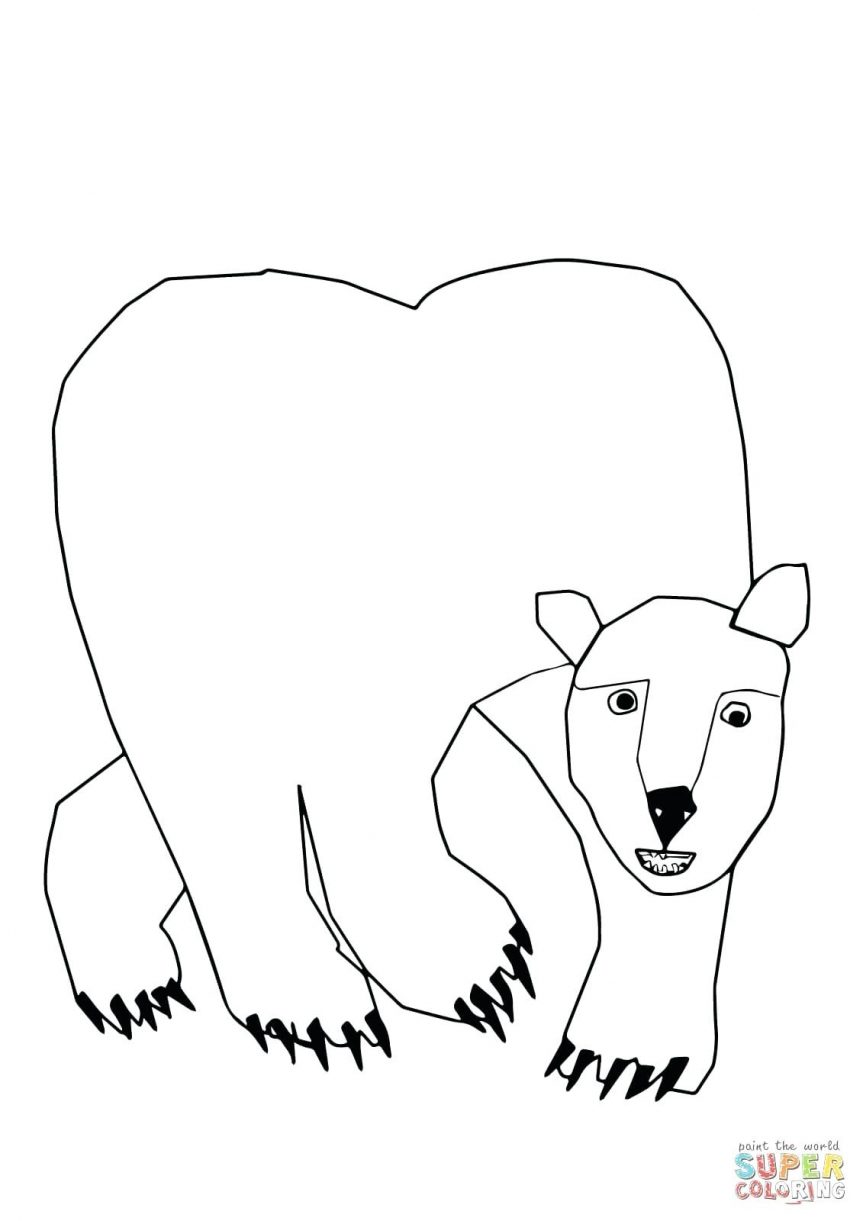 863x1221 Superb Polar Bear Express Coloring Page On Inspiration Article