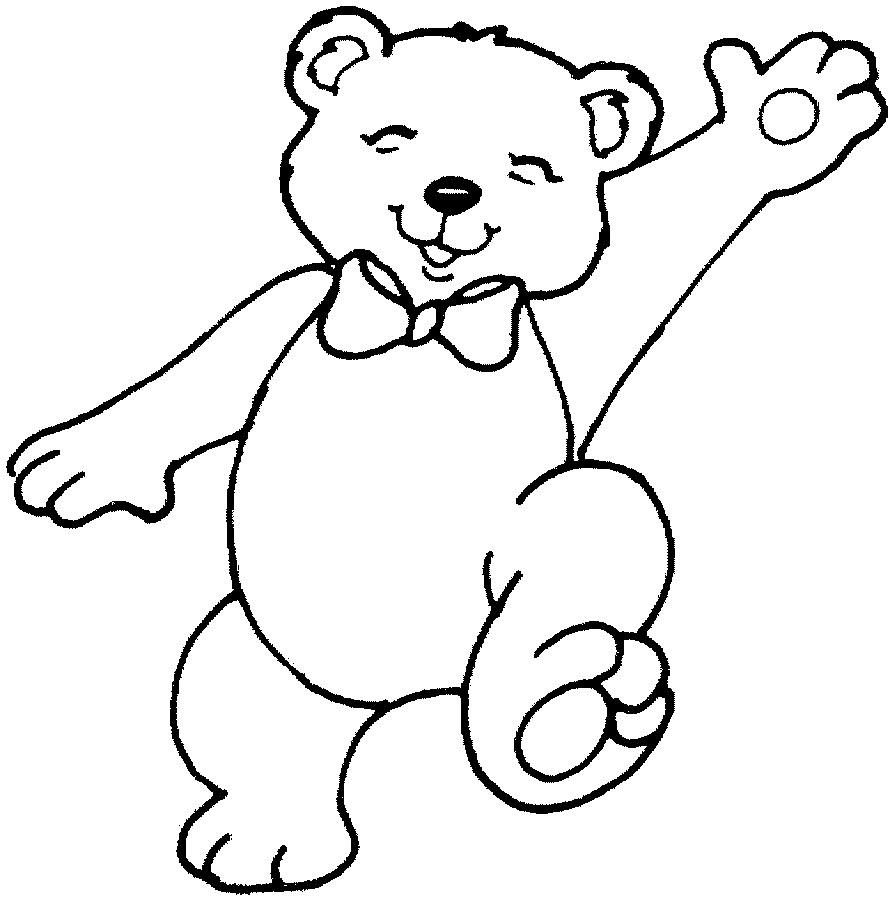 893x900 Teddy Bear Color Page Crafts Free Printable Coloring