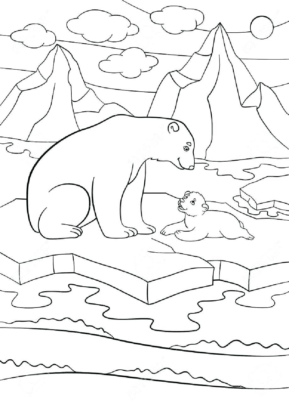 919x1300 Coloring Coloring Page Polar Bear
