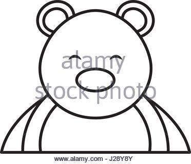 372x320 Polar Bear Face Flat Icon Design. Animal Icons Series Stock Vector
