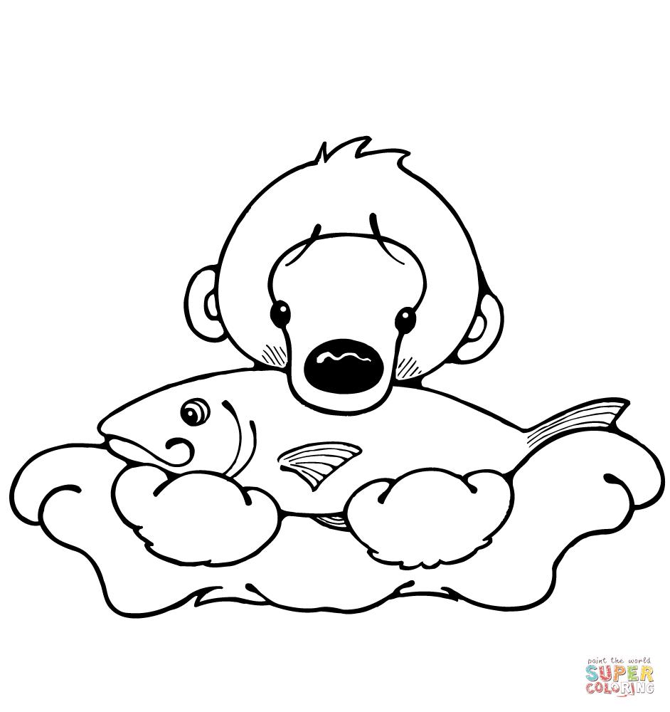 942x1000 Drawn Polar Bear Draw A