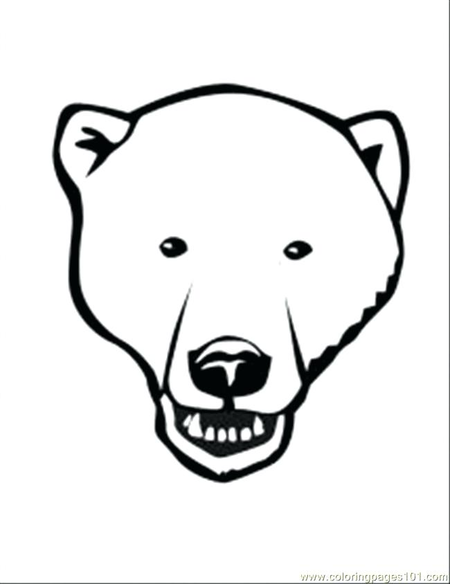 650x844 Bear Face Coloring Page For Black Bear Coloring Page Standing