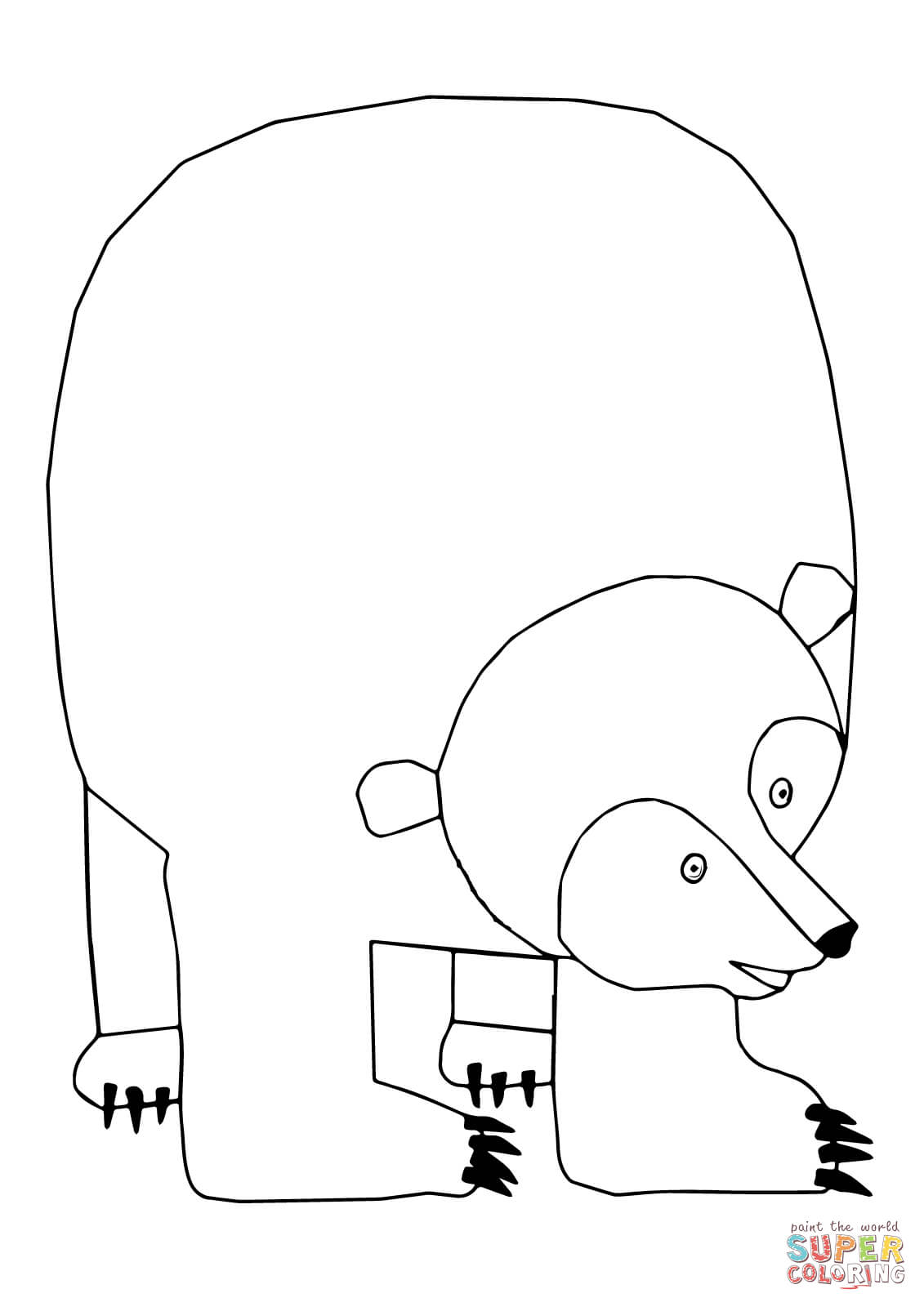 Polar bear face drawing at getdrawings free for personal use 1131x1600 polar bear polar bear what do you hear coloring pages maxwellsz