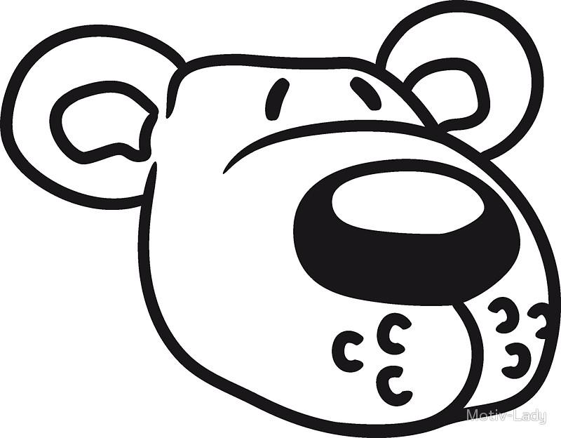 800x624 Polar Bear Face Head Sweet Cute Comic Cartoon Teddy Dick Big