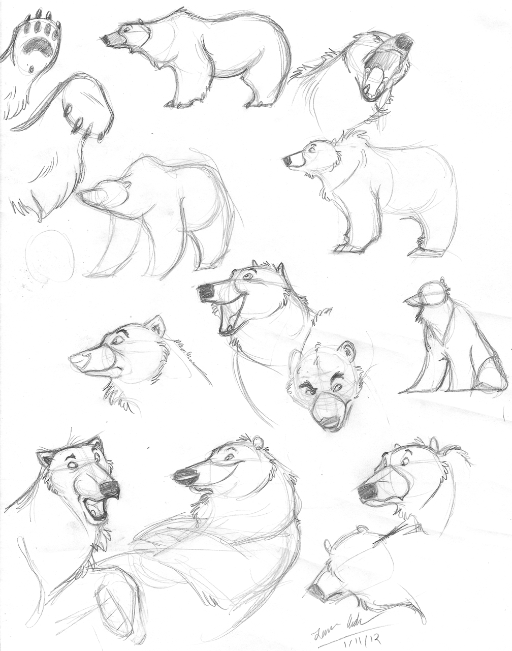 1008x1281 Polar Bear Face Drawing How To Draw A Bear Face Solution For How