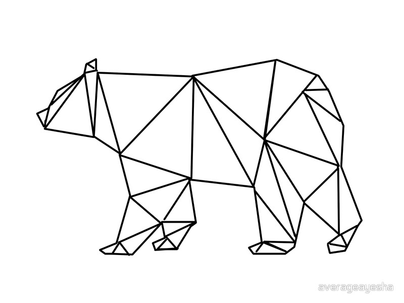 800x600 Geometric Polar Bear Art Prints By Averageayesha Redbubble