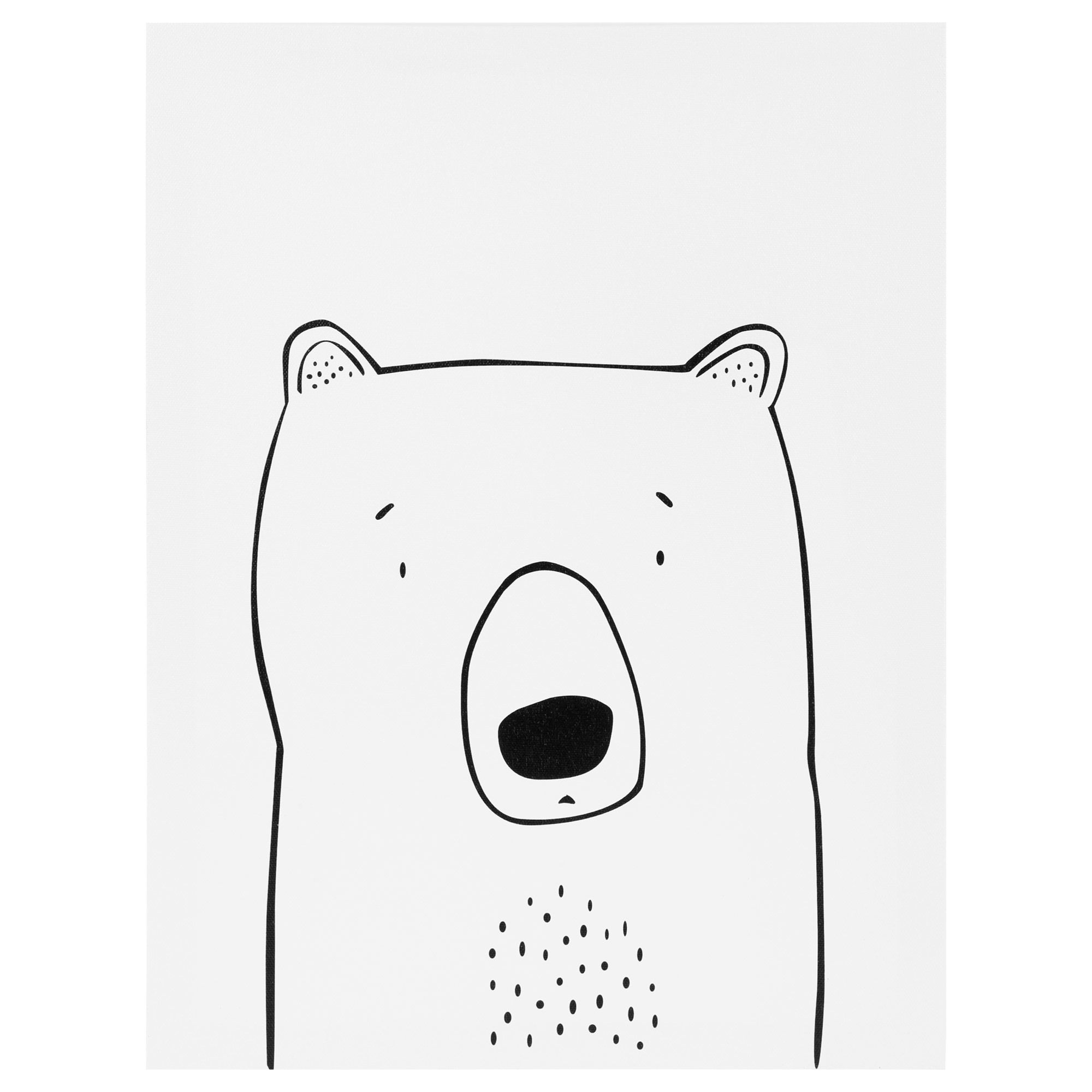 2000x2000 Polar Bear Canvas