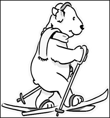 353x378 Polar Bear Coloring Pages For Young Children Who Love To Be Creative.
