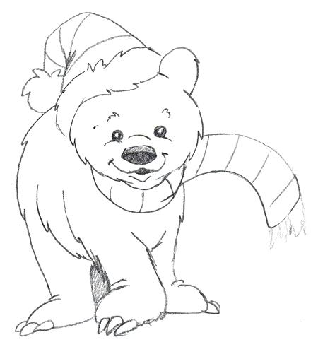 450x508 Polar Bear Coloring Page Free Outline Pictures For Coloring Polar