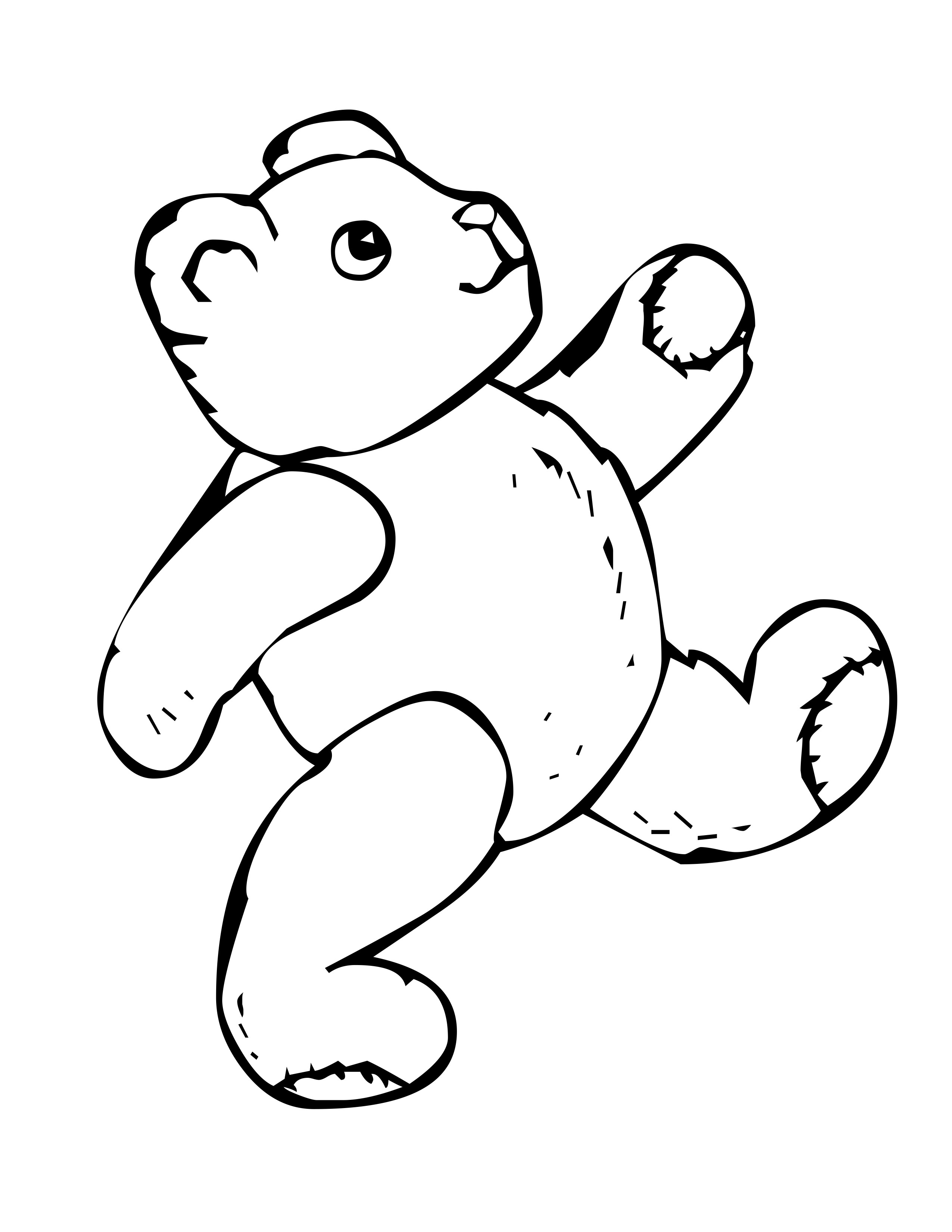 2550x3300 Free Bear Coloring Pages