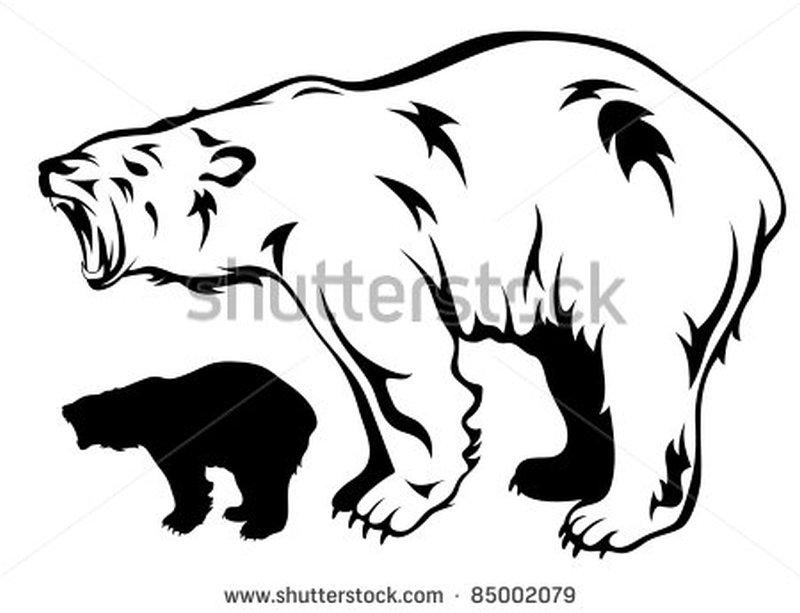 800x613 Amazing Polar Bear Tattoo Designs
