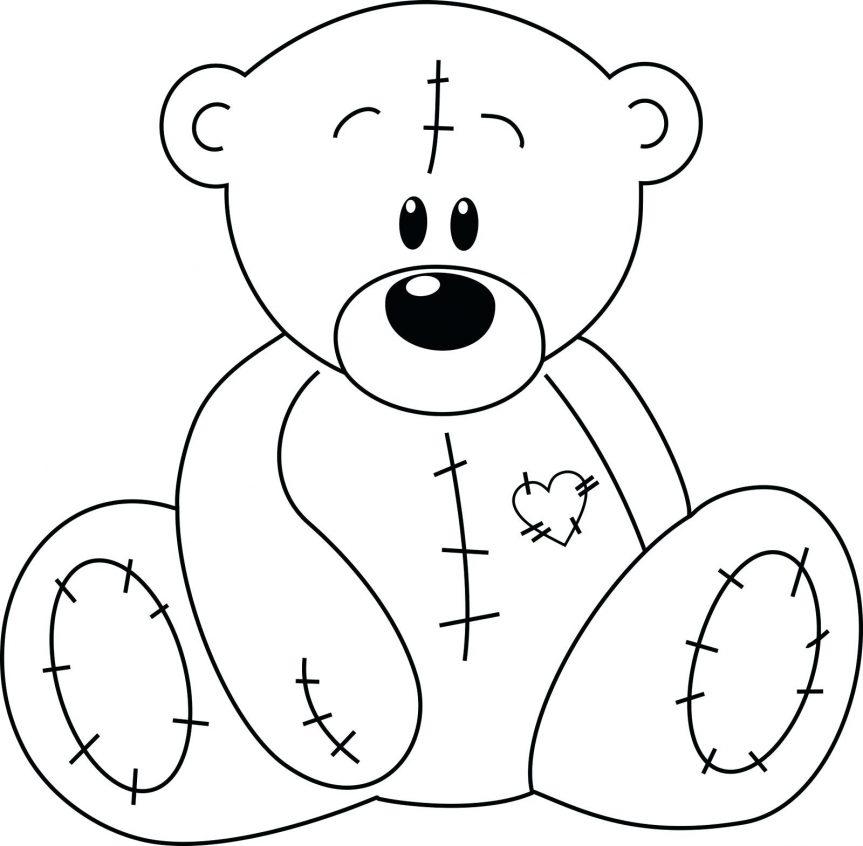 863x846 Teddy Bear Panda Outline Drawing Polar Clipart Teddy Bear Outline